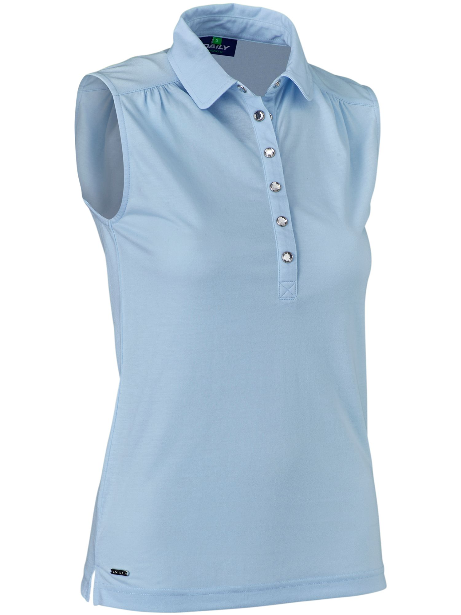 Daily Sports Majken Sleeve Less Polo, Light Blue
