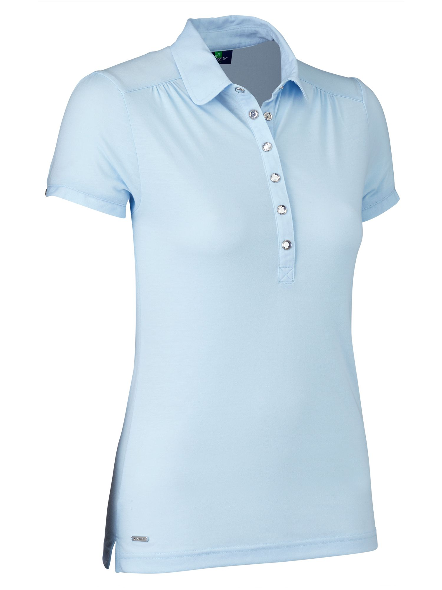 Daily Sports Majken Cap Sleeve Polo, Light Blue
