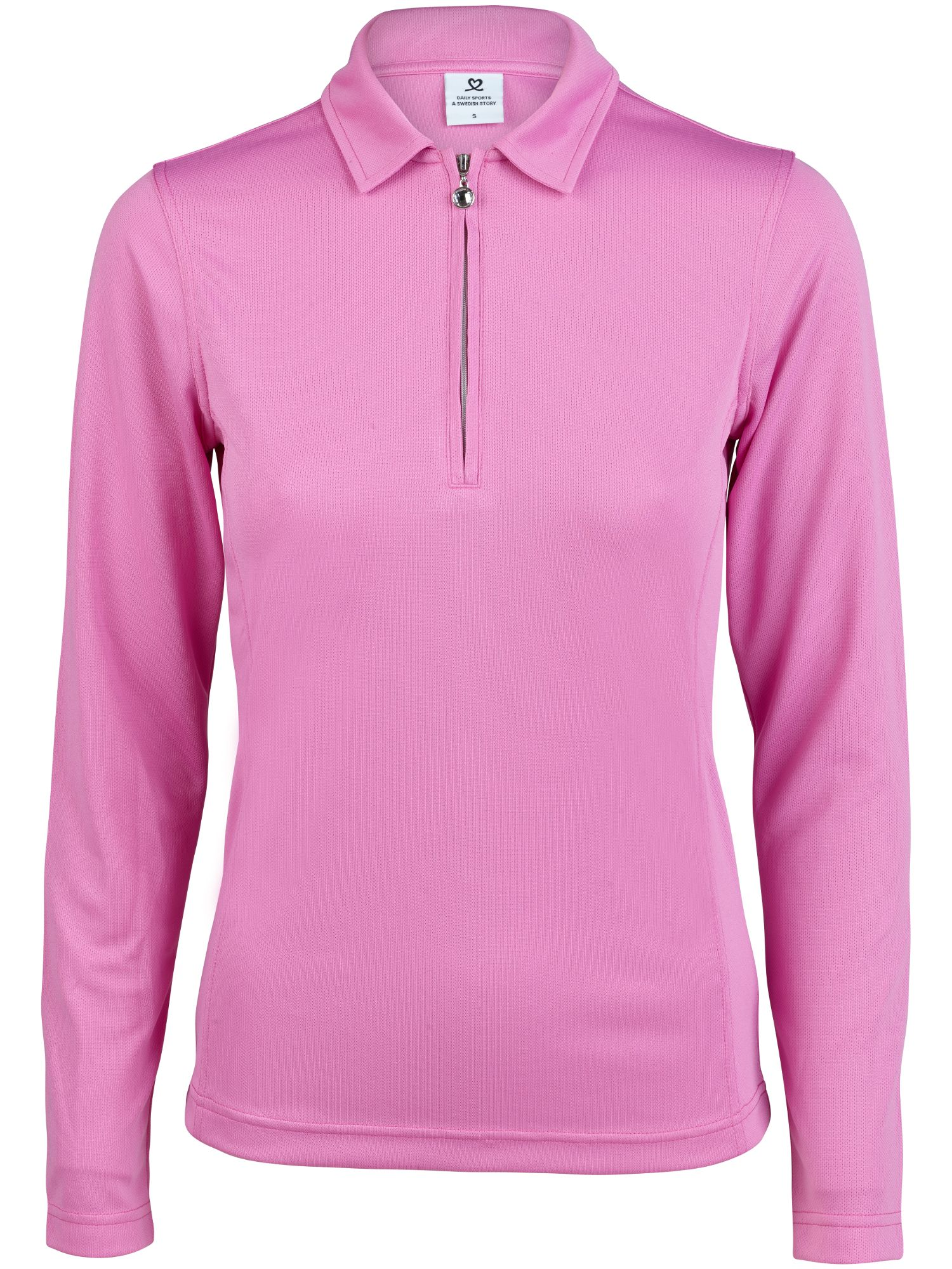 Daily Sports Macy Long Sleeve Polo, Pink