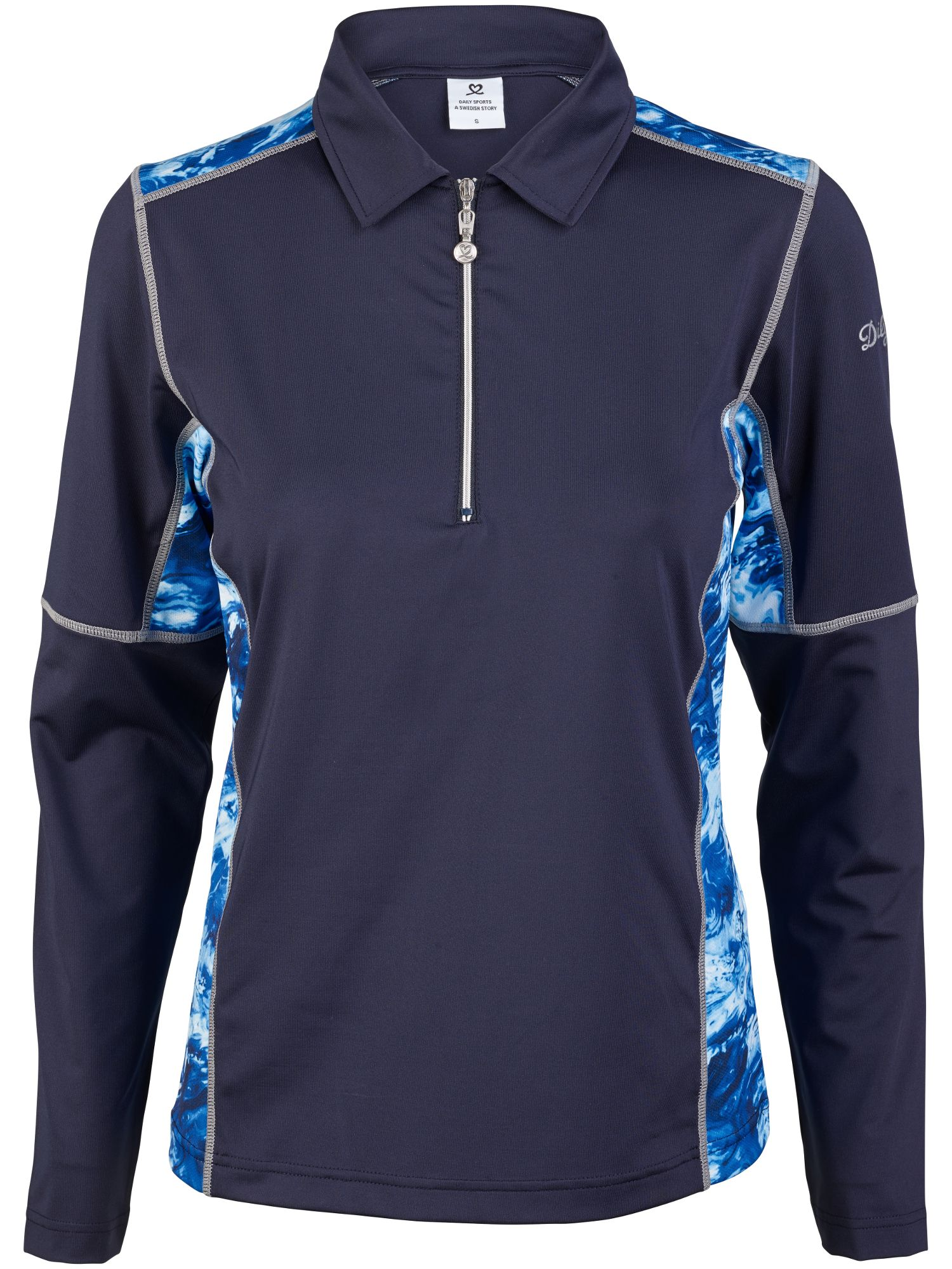 Daily Sports Otilia Long Sleeved Polo, Blue