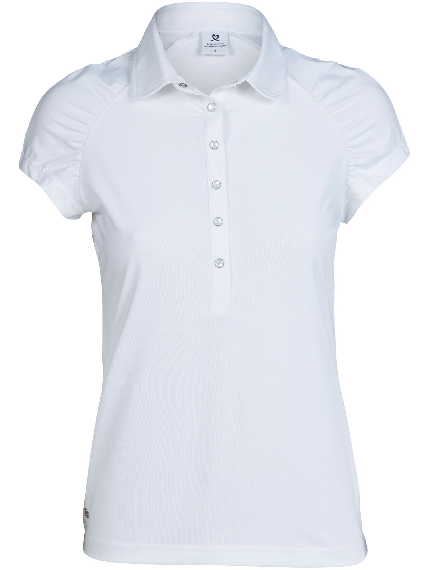 Daily Sports Ariana Cap Sleeve Polo Shirt, White