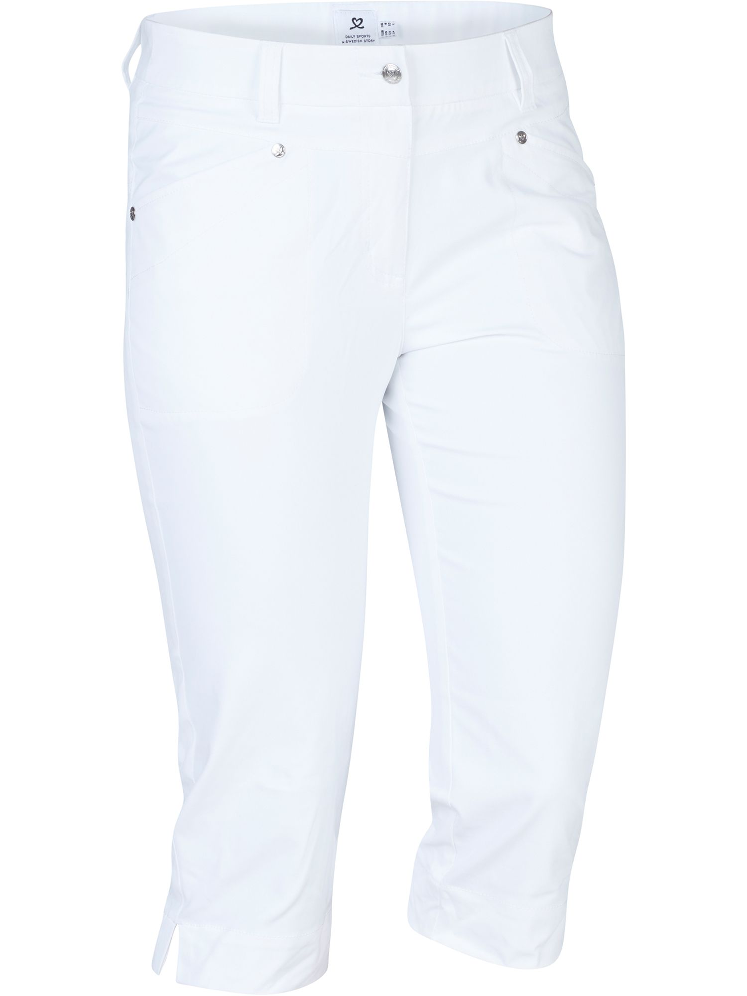 Daily Sports Lyric Capri, White