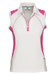 Amanda sleeveless polo