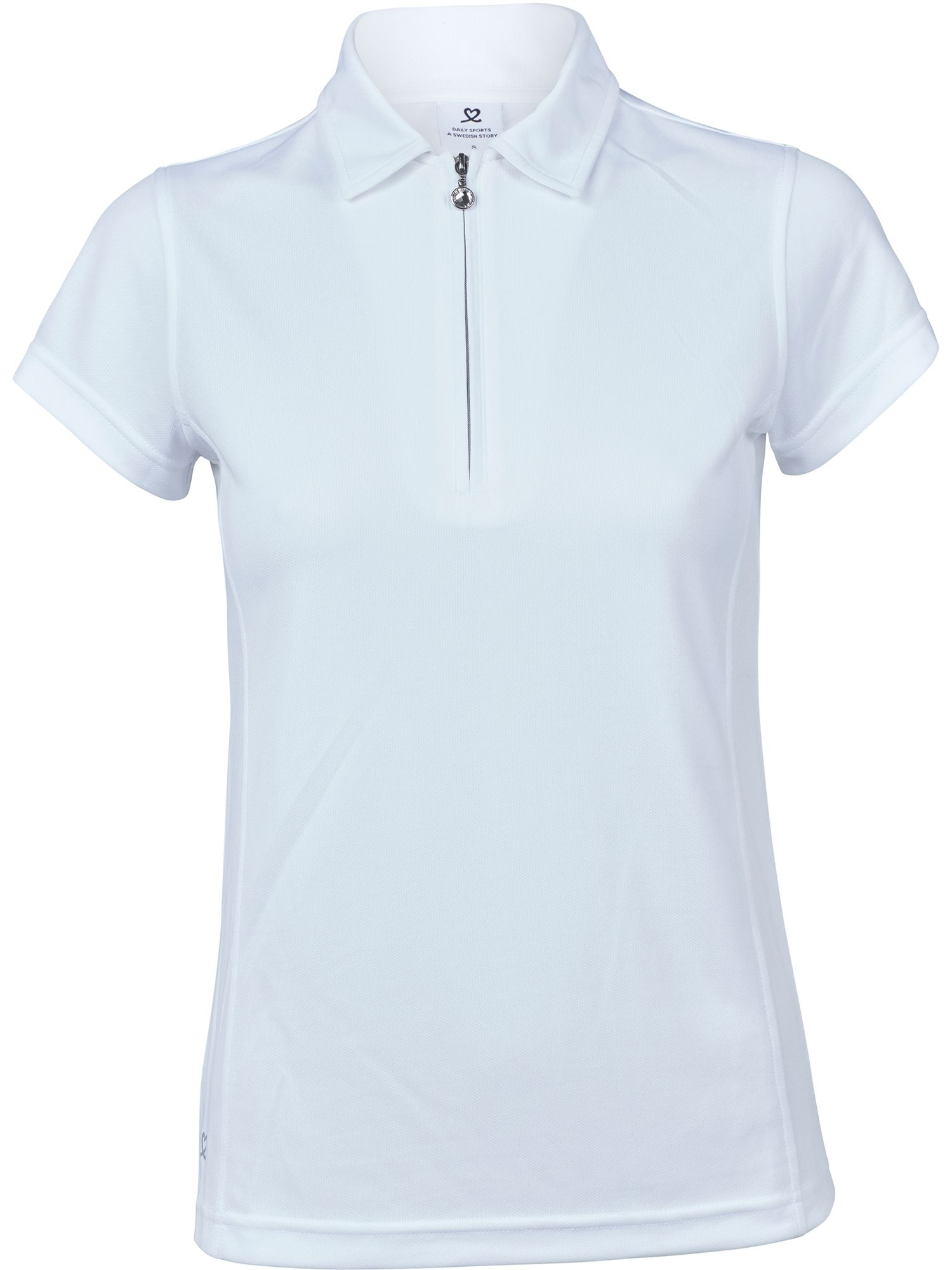 Daily Sports Macy Cap Sleeve Polo Shirt, White