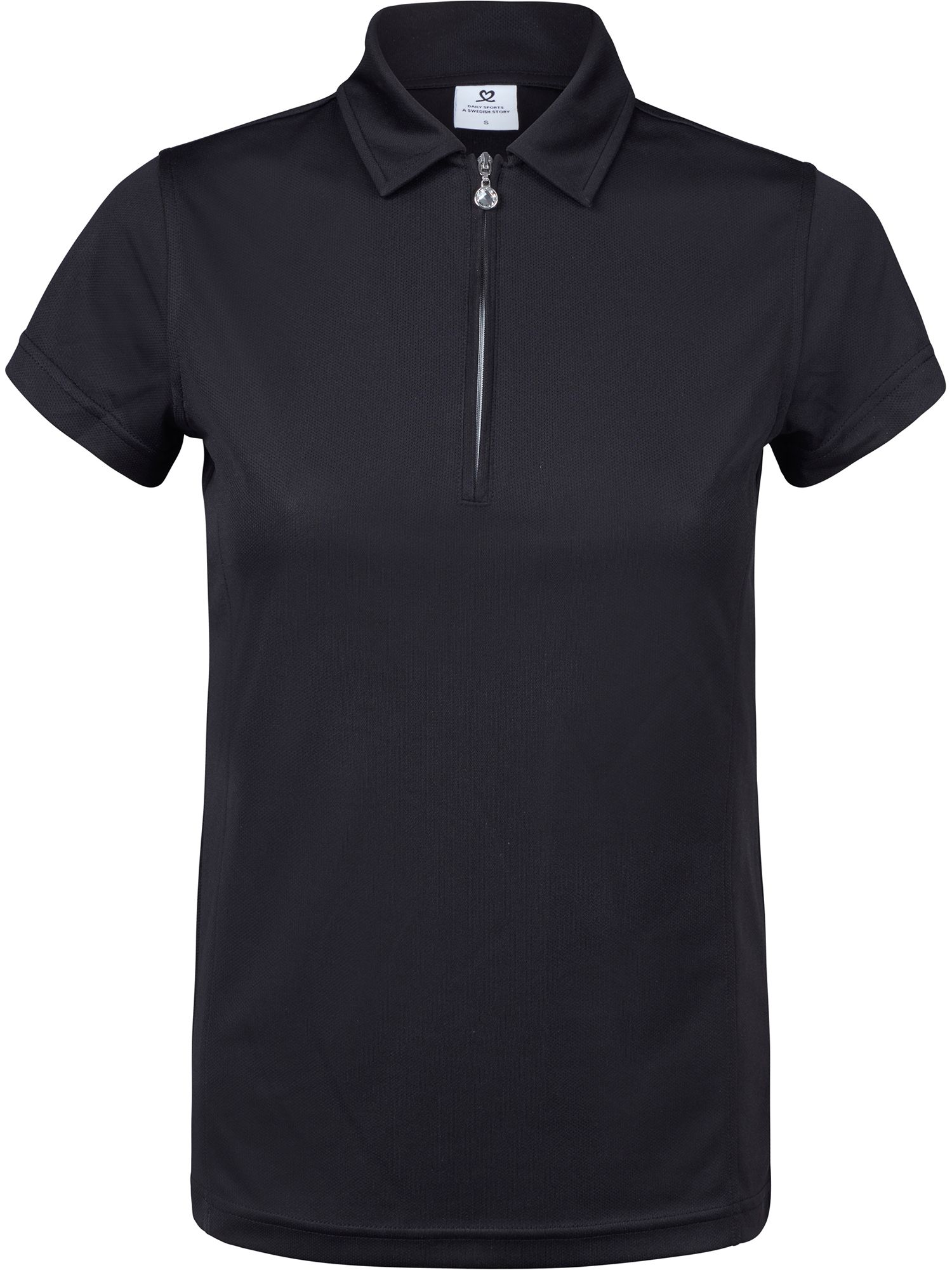 Daily Sports Macy Cap Sleeve Polo Shirt, Black