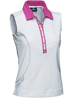 Alexis Sleeveless polo shirt