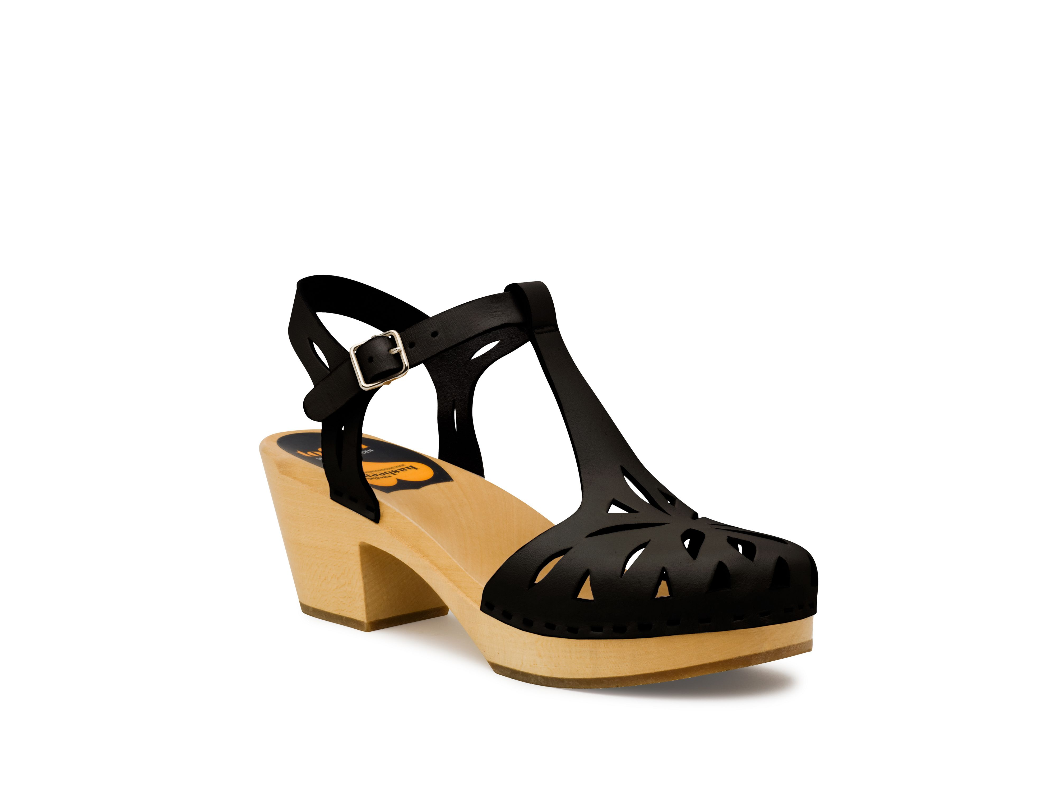Swedish Hasbeens Lacy sandal sandals, Black Multi