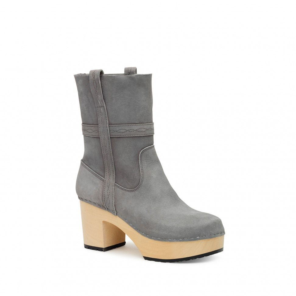 Swedish Hasbeens Country boots, Grey