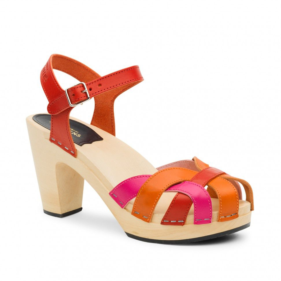 Swedish Hasbeens Pearl Sky High Sandals, Multi-Coloured
