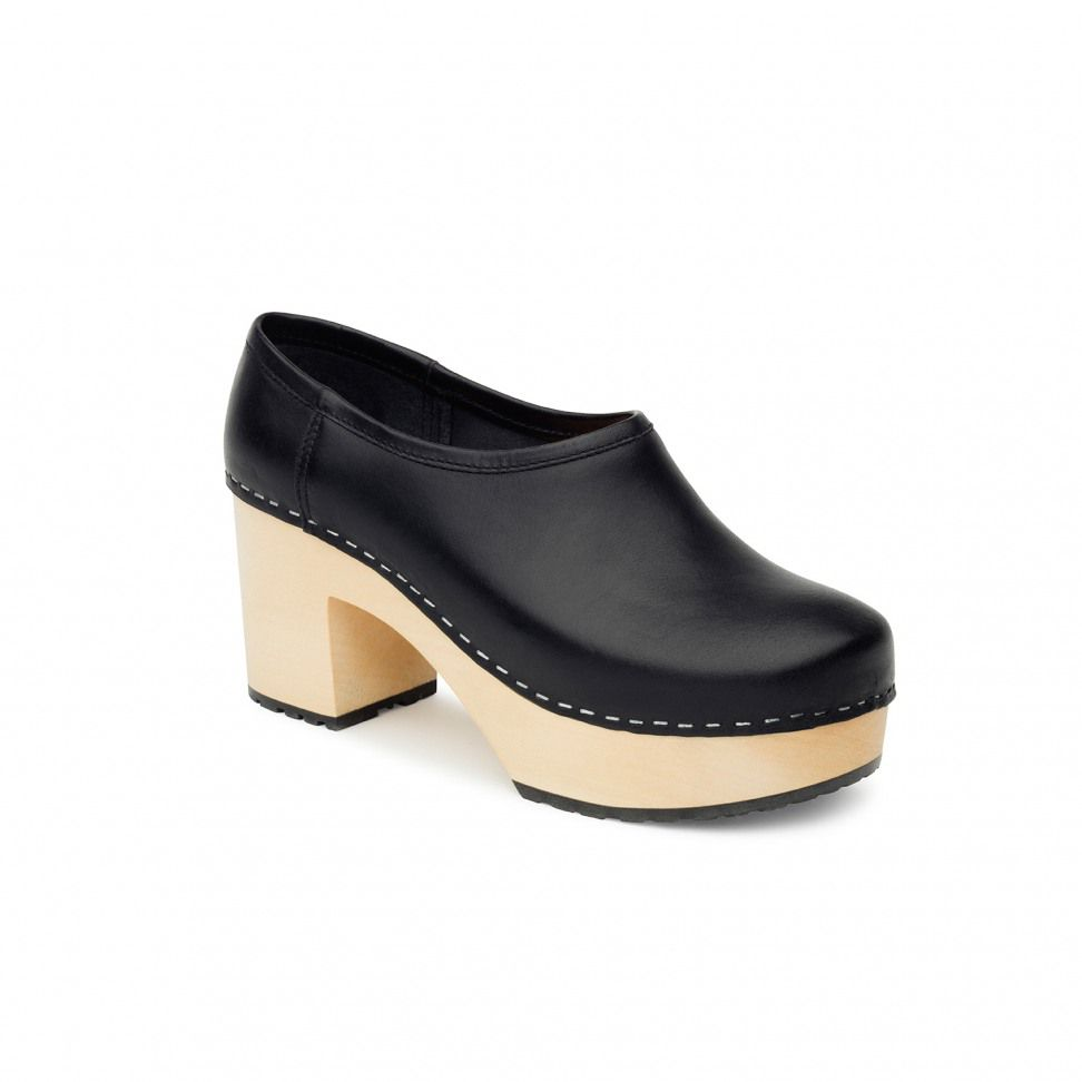 Swedish Hasbeens Bettan  Shoes, Black
