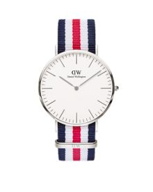 Daniel Wellington 0202DW Mens Silver Canterbury Watch