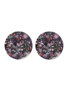 Set of 2 Plates Shadow Floral