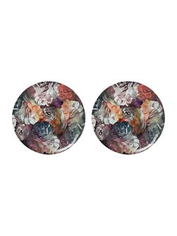 Set of 2 Coupe Plates Technicolour in Bloom