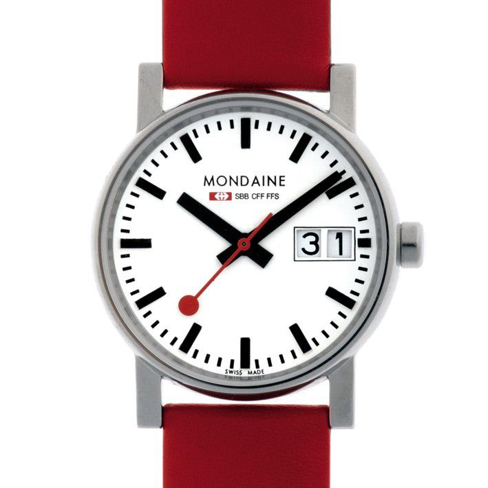 Mondaine MONEBD0007 Evo Big Date Ladies Watch, Red