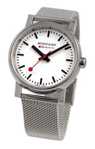 Mondaine A658.30300.11SBV Evo silver mens watch