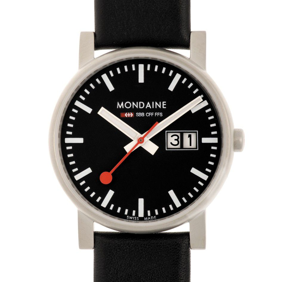 Mondaine A669.30300.14SBB Evo Big Date Mens Watch, Red