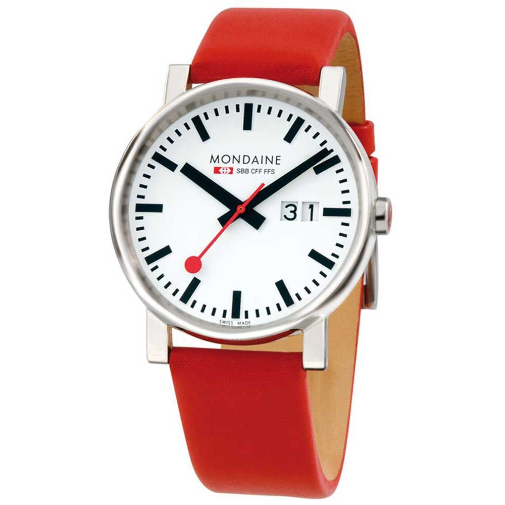 Mondaine A627.30303.11SBC Evo Big Date Mens Watch, Red