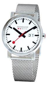 Mondaine A627.30303.11SBM Evo big date silver mens watch