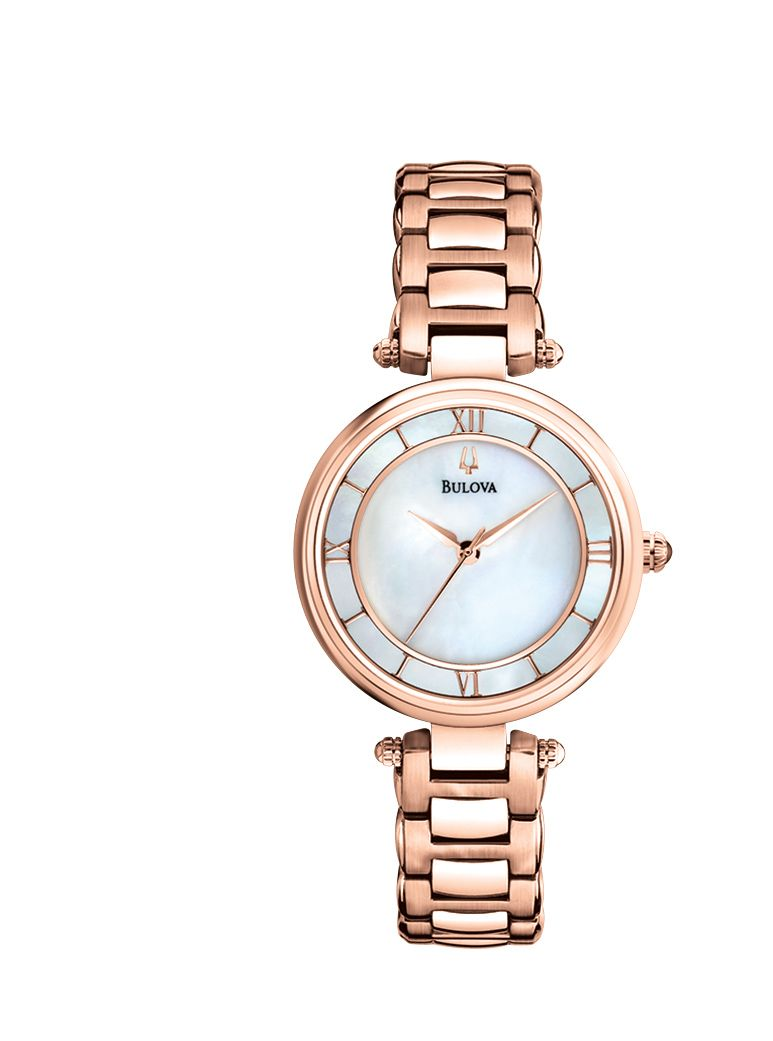 97L124 Dress rose gold stainless steel ladies wat