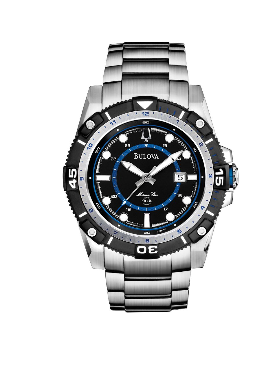 98B177 Marine star stainless steel mens watch