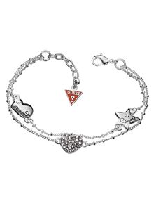 Guess Black Friday Heart & Star Pave Bracelet
