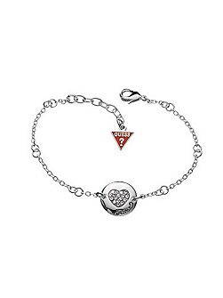 Black Friday Pave Heart Disc Bracelet