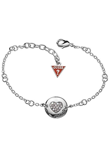 Guess Black Friday Pave Heart Disc Bracelet