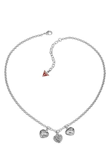 Guess Black Friday Triple Heart Charm Pendant NA