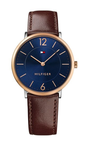 Tommy Hilfiger TH354 mens brown leather watch