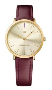 Tommy Hilfiger TH692 ladies burgundy leather watch