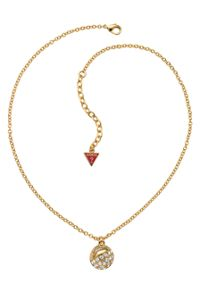 Crystal Crush Gold Ball Charm Necklace