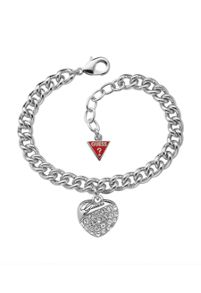 Guess Crystal Crush Silver Heart Bracelet