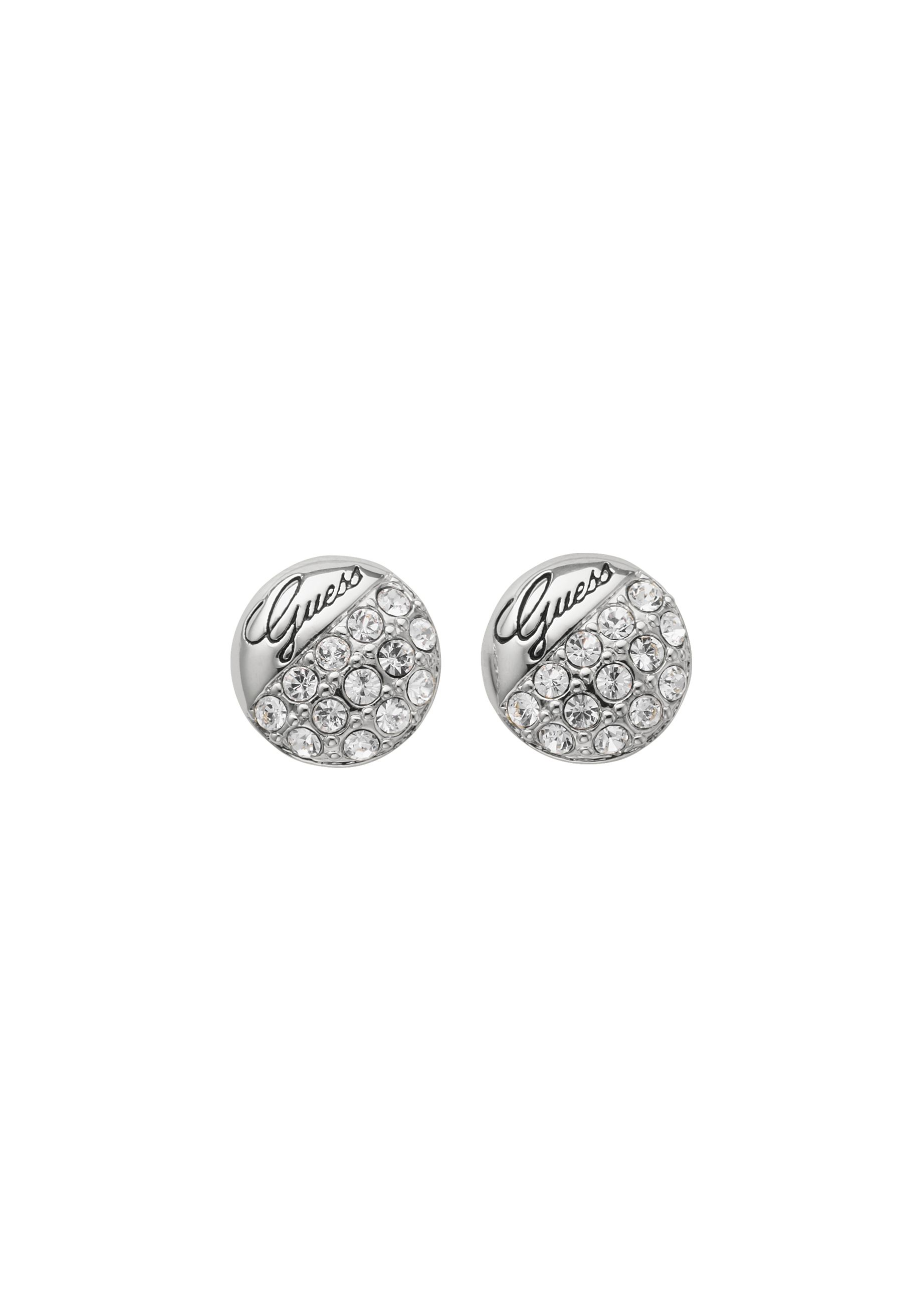 Crystal Crush Silver Ball Earrings