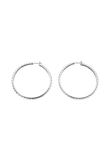 Rock my world hoop earrings