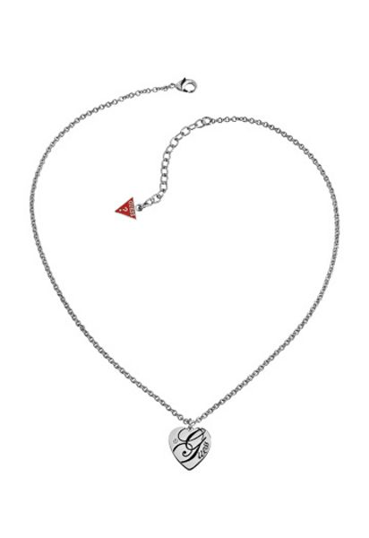Guess All mixed up heart necklace