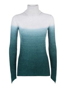 Victorinox Sabine Dip Dye Roll Neck Sweater