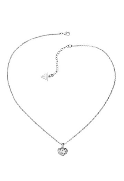 Guess Rhodium Pendant Necklace