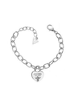 True love padlock heart bracelet
