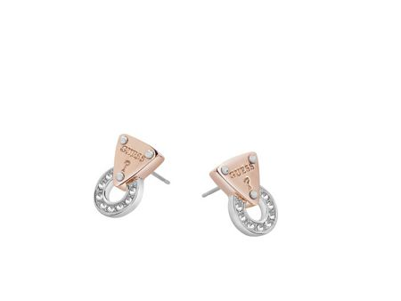 Guess Embrace me mini circle lock earring