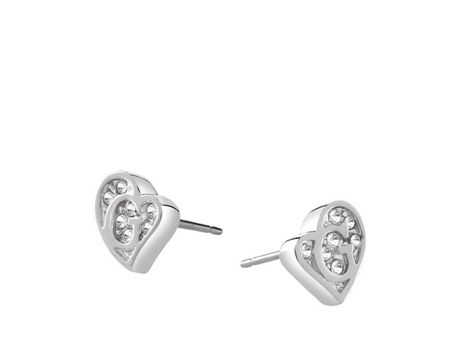 Guess G hearts earrings