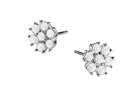 Guess rhodium plated earrings