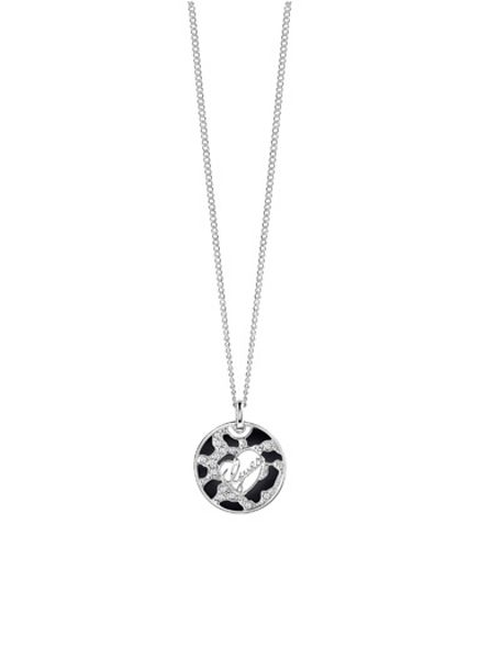 Guess rhodium plated necklace