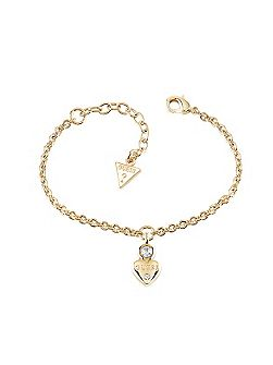 Guessy little heart charm bracelet