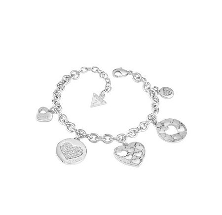 Guess Heart devotion multi charm bracelet