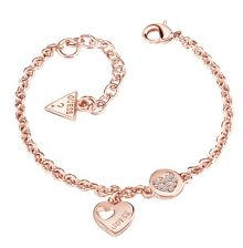Guess Heart devotion sparkle coin bracelet