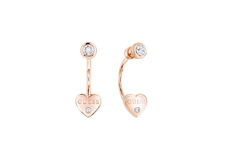 Guess Guessy little heart jacket stud earrings