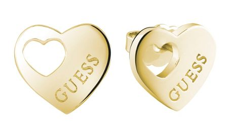 Guess Heart devotion cut out stud earrings