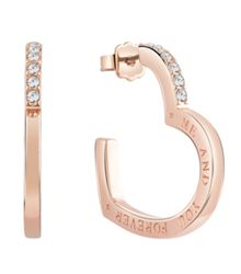 Guess Frame open heart engraved earrings