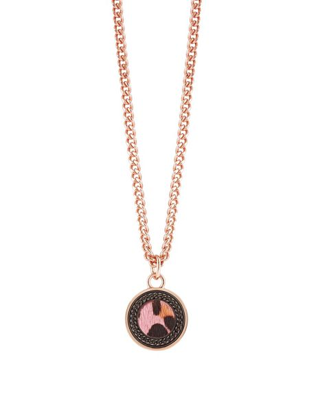Guess Animal Twist Leopard Coin Pendant