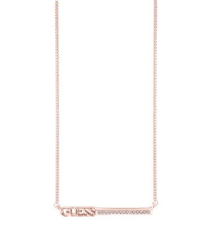Guess Linear logo bar necklace